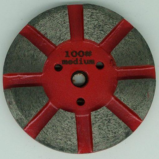 Polishing Button 8 segment metal bond velcro backed