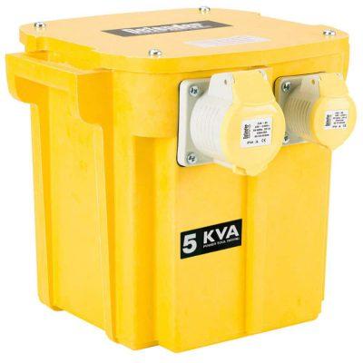Site transformer 5KVA for safe operation of power tools