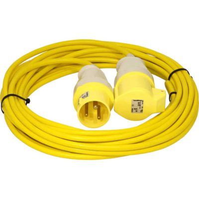 Extension cable 110V complete with plug and trailing socket